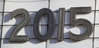 Year 2015 Marquee Text Stock Photo