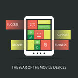 The Year of the Mobile Devices Stock Image
