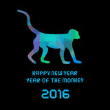 Year of the Monkey card1 Royalty Free Stock Photos