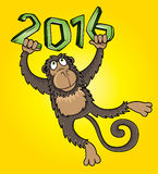 2016 Year of the monkey cartoon  illustration. Design Stock Photo
