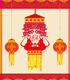 Year of monkey design for Chinese New Year Royalty Free Stock Images