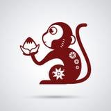 Year of the monkey design Stock Image