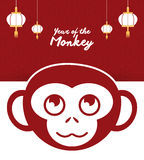 Year of the monkey design Royalty Free Stock Images