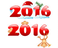 Year Of The Monkey. Happy new year 2016. Year Of The Monkey Royalty Free Illustration