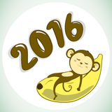 Year of the Monkey 2016. Happy New Year Vector illustration vector illustration