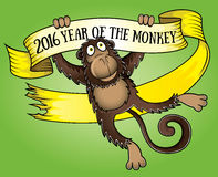 2016 Year of the monkey  illustration. 2016 Year of the monkey cartoon  illustration Stock Images