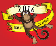 2016 Year of the monkey  illustration. 2016 Year of the monkey cartoon  illustration Stock Image