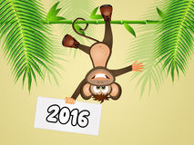 Year of the monkey Royalty Free Stock Image
