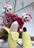 Year of monkey, knitted toy, symbol, handmade Stock Image