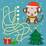 Year Of The Monkey Maze Game Stock Photos