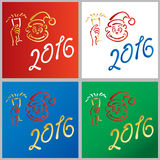 Year of the monkey new year 2016. Year of the red monkey new year 2016 Stock Photos