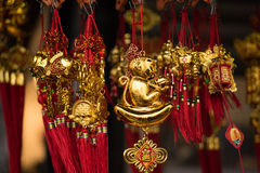Year of the Monkey. Monkey ornament sold for Year of the Monkey at New York City Chinatown Chinese New Year celebration Royalty Free Stock Photos