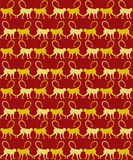 Year of the Monkey Seamless Pattern Royalty Free Stock Image