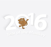 2016 Year of the Monkey. Symbol of 2016. Vector Illustration Royalty Free Stock Photography
