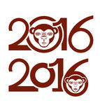 Year of the Monkey. 2016. Stock Photo