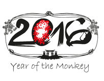 Year Of The Monkey. Vector Illustration royalty free illustration