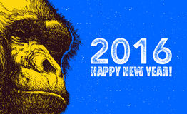 The year of monkey. Vector illustration Stock Photos