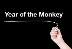 Year of the monkey word Stock Images
