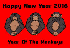 2016, Year of the monkeys Stock Images