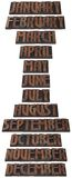 Year Month Calendar Cutout Royalty Free Stock Images