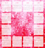 Year 2016 monthly calendar Royalty Free Stock Photos
