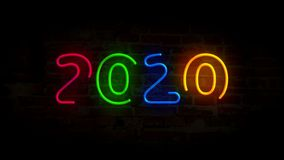 Year 2020 neon light