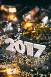 2017 Year& novo x27; s Eve Grunge Background Fotografia de Stock Royalty Free