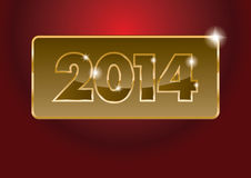2014 year number. On the dark red background royalty free illustration