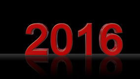 2016 - year number New Year -. Red Royalty Free Stock Photo