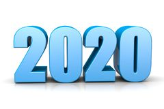 2020 Year Number Text