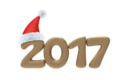 2017 Year Number Text 3D Illustration Stock Image