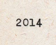 2014 year number Royalty Free Stock Images