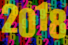 Year 2018. Numbers background for the year 2018 royalty free illustration