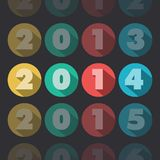 Year 2014. Numbers forming the date 2014 Royalty Free Stock Photo
