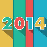 Year 2014. Numbers forming the date 2014 Royalty Free Stock Images