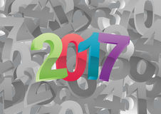 2017 year numbers Stock Image