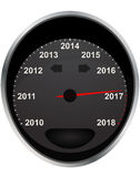 2017 year odometer. Illustration of years odometer, 2017 year Royalty Free Stock Photo