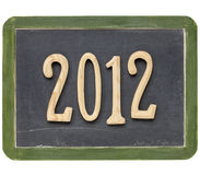 Year Of 2012 On Blackboard Stock Images