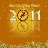 Year Of The Rabbit 2011 Circles Gold Royalty Free Stock Photography