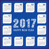 2017 year office calendar. Vector illustration, eps 10 Royalty Free Stock Photos