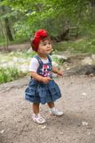Year-old adorable little child girl in park at summer Royalty Free Stock Photography
