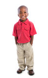 2 year old african american baby boy standing Royalty Free Stock Photos