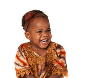 3 year old African American girl happy expression Royalty Free Stock Image