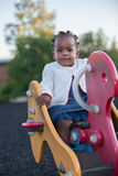 3-year old African American Girl Playing Stock Image
