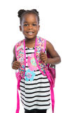 5 year old african american girl standing wear casual outfit Royalty Free Stock Photography