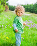1 year old baby boy portrait Royalty Free Stock Photo