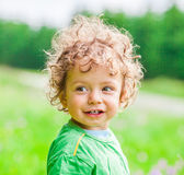 1 year old baby boy portrait Royalty Free Stock Images