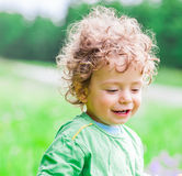 1 year old baby boy portrait Stock Images