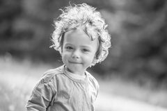 1 year old baby boy portrait Stock Photo