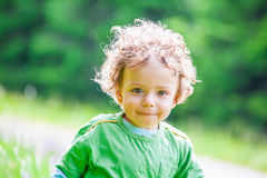 1 year old baby boy portrait Royalty Free Stock Photography
